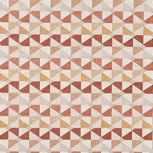 Tecido Jacquard Impermeabilizado Catavento Terracota - Marb 02