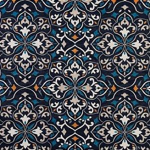 Tecido Jacquard Impermeabilizado Oasis Marinho-Azul - Marb 35