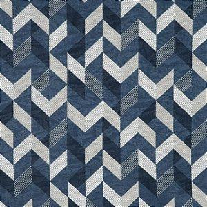 Tecido Jacquard Impermeabilizado Kale Marinho-Azul - Marb 36