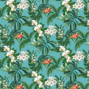 Tecido para Moveis Floral Turqueza-Tiffany - Acquablock 07