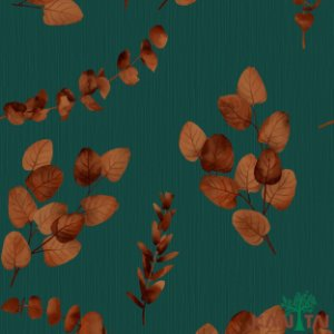 Papel de Parede Moda Em Casa 2 Folhas inverno Fundo Verde - MD700702R