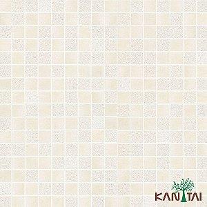 Papel de Parede Moda Em Casa 3 - Quadriculado Bege e Areia -MD701201K