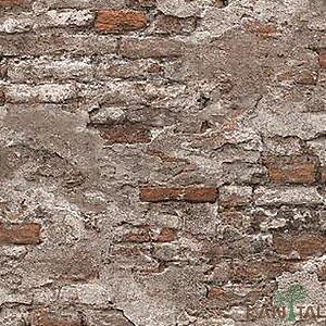 Papel de Parede Stone Age 2 - Muro Vermelho Antigo - SN605003R