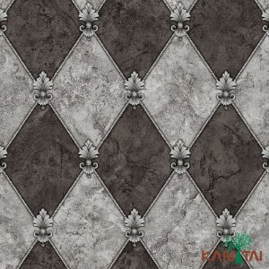 Papel de Parede Moda Em Casa 3 - Losangolo Cinza  e Chumbo - MD702503R