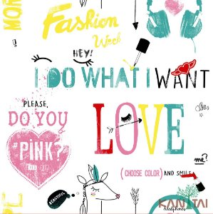 Papel de Parede Stone Age - I do what i want - Verde Tiffany - SN601501R