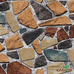Papel de Parede Stone Age - Pedras Tonalidades Quentes - SN601701R