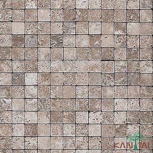 Papel de Parede Stone Age - Quadrados - Marrom Claro - SN601903R