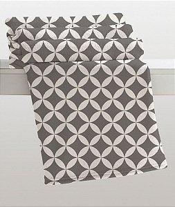 Manta Casal Estampada Gregor Cinza Microfibra Corttex Home Design 1,80 x 2,20 mts