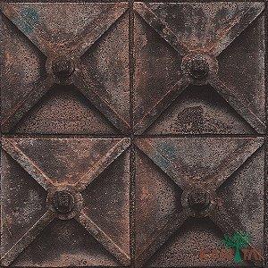 Papel de Parede Stone Age - Potão De Ferro Em X - SN602801R