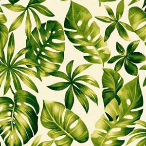 Tecido para Moveis Zimbros Verde Folhas- Acquablock 47