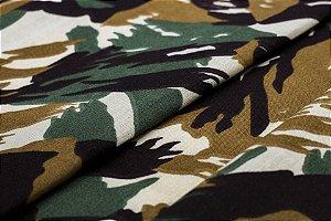 Tecido Tricoline Estampado Camuflado Claro 100% Algodão com 1,50 metros de largura - 2928