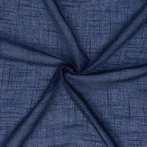 Tecido Para Cortina Voil Deluxe Azul - Largura 3,00m - Deluxe 03