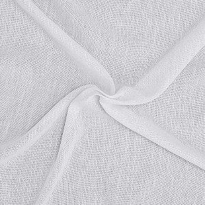 Tecido Para Cortina Voil Gomel Branco - Largura 2,80m - Gomel 01