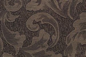 Tecido Jacquard Marrom Chocolate Floral - PAN 119