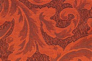 Tecido Jacquard Terra Cota Floral - PAN 127