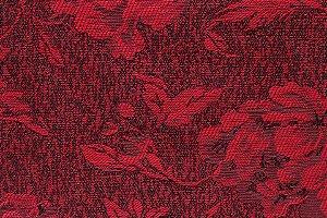 Tecido Jacquard Vermelho Flor - PAN 129