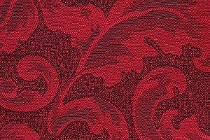 Tecido Jacquard Vermelho Floral - PAN 131