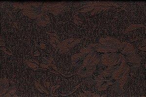 Tecido Jacquard Marrom Flor - PAN 133