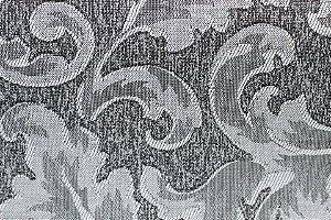 Tecido Jacquard Cinza Floral - PAN 139