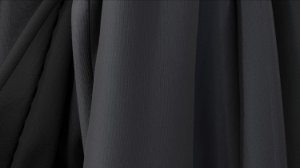 Tecido para Cortina American Poli Sarja Preto - Largura 2,80m - AME-06