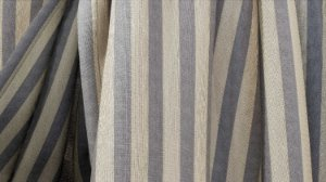 Tecido para Cortina American Gorgurinho Shantung Listrado Cinza - Largura 2,90m - AME-17