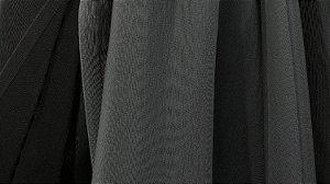 Tecido para Cortina American Gorgurinho Shantung Preto - Largura 2,90m - AME-24