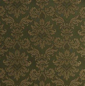 Tecido Jacquard Algodão Medalhão Verde Musgo Para Cortinas Com 2,80 de Largura - EUR34