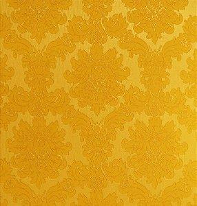 Tecido Jacquard Algodão Medalhão Amarelo Para Cortinas Com 2,80 de Largura - EUR39