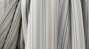 Tecido para Cortina American Rústico Listrado Bege e Marrom - Largura 2,90m - AME-102