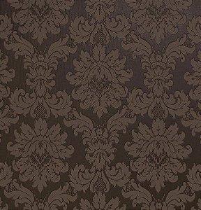 Tecido Jacquard Algodão Medalhão Chocolate Para Cortinas Com 2,80 de Largura - EUR54