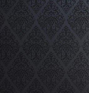 Tecido Jacquard Algodão Light Medalhão Black Para Cortinas Com 2,80 de Largura - EUR77