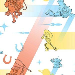 Papel de Parede Branco Toy Story Colors  - DI0924A