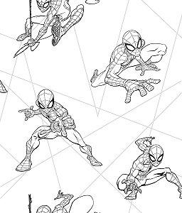 Papel de Parede Spider Preto e Branco - DI0940A