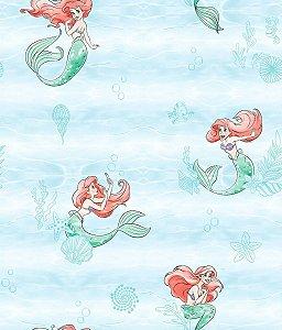 Papel de Parede Pequena Sereia Azul Água - DI0954A