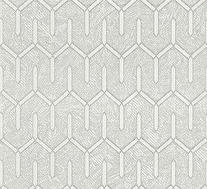 Papel de Parede Lamborghini Texturizado Geometrico Off White  - Z44838