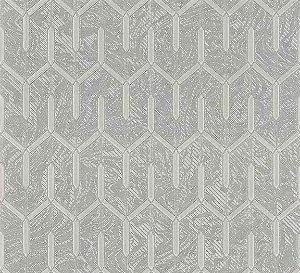 Papel de Parede Lamborghini Texturizado Geometrico Prata Fundo Mesclado- Z44840