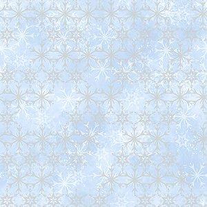Papel de Parede Flocos de Neve Azul - DI0960A