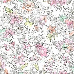 Papel de Parede Princesas Flores - DI0966A
