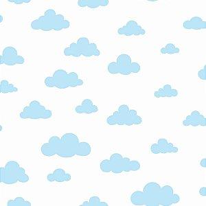 Papel de Parede Nuvens Azul Bebê - DI0975A