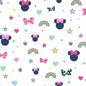 Papel de Parede Minnie Sonhos Rosa - DI0991A