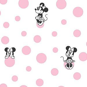 Papel de Parede Minnie Bolinhas Pink - DI1027A