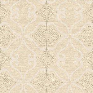 Papel de Parede Arabesco Amarelo Areia - JY10102