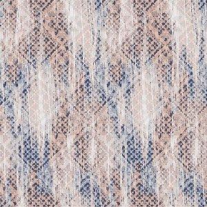 Papel de Parede Ranhuras Terra Cota e Azul Desbotado - JY10505