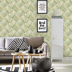 Papel de Parede Laroche - Mosaico Escovado Verde  -  SU10102