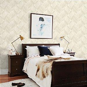 Papel de Parede Laroche - Mosaico Escovado Marfim - SU10107