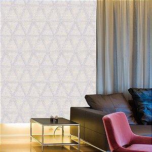 Papel de Parede Laroche - Moisaico Triangular Serenity Com Brasões - SU10403