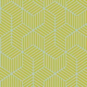 Papel de Parede Cubic- Amarelo Geometrio - CU87420