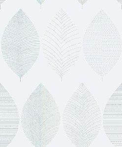 Papel de Parede Folhas Azul Aço - PR8324