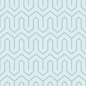 Papel de Parede Cubic-Azul Geométrico - CU87447