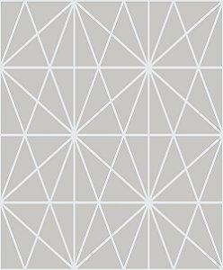 Papel de Parede Cubic-Cinza Geométrico Estelar - CU87435